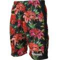 Tropical Flor HALF PANTS BLACK