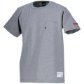 gfp.EMBROID POCKET S/S-T HEATHER