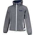 CHAMBRAY HOODED JK GRAY/NAVY
