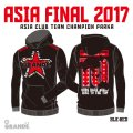 """ASIA FINAL 2017 CLUB CHAMPION Heavy Parka """"RED STAR"""" BLACK/RED"""