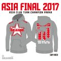 """ASIA FINAL 2017 CLUB CHAMPION Heavy Parka """"RED STAR"""" GRAY/RED"""