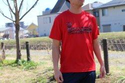 画像4: GRANDE カモ柄 ドライメッシュTシャツ レッド/ブラック