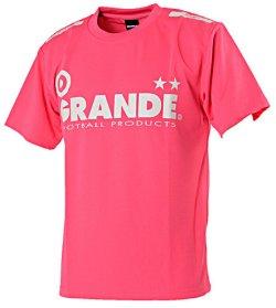 画像1: GRANDE プロトタイプ ドライメッシュTシャツ ピンク×グレー