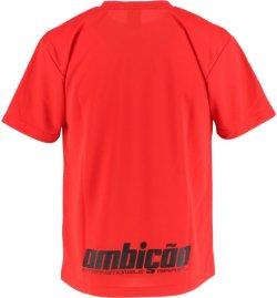 画像2: GRANDE カモ柄 ドライメッシュTシャツ レッド/ブラック