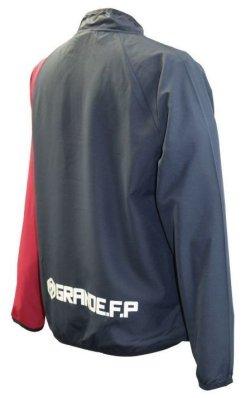 画像2: GRANDE.F.P プロトピステ.ハーフジップ.ジャケット ネイビー×バーガンディ