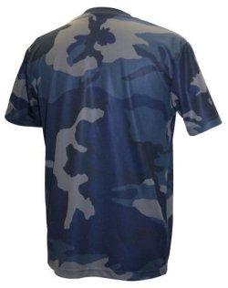 画像2: GRANDE.F.P カモ.トレーニングメッシュシャツ ネイビー×ブラック