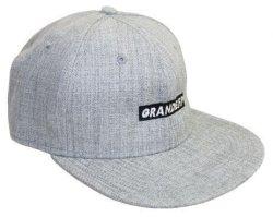 画像1: GRANDE.F.P 刺繍フラットバイザーキャップ ヘザーグレー