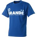 GRANDE COLORFUL DOT PROTO TYPE DRY MESH T-SHIRTS BLUE/WHITE