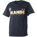 GRANDE COLORFUL DOT PROTO TYPE DRY MESH T-SHIRTS NAVY/YELLOW