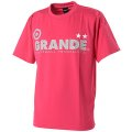 GRANDE COLORFUL DOT PROTO TYPE DRY MESH T-SHIRTS PINK/GRAY