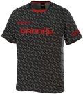 GRANDE.F.Pバイヤスロゴ.プラクティスシャツ.ジュニアサイズ ブラック/レッド