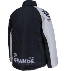 画像2: GRANDE.F.Pベーシック  スタンドカラーウォーマージャケット ブラック/グレー