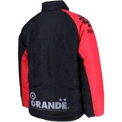 画像2: GRANDE.F.Pベーシック  スタンドカラーウォーマージャケット ブラック/レッド