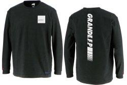画像1: グランデ・エフ・ピー、GRANDE.F.Pハイパーロゴバックプリント.ロングスリーブTシャツ ブラックxホワイト