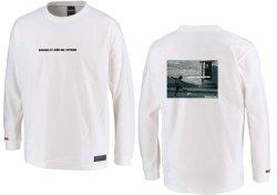 画像1: グランデ・エフ・ピー、グランデ・エフ・ピー、NINO DEL FUTBOLフォトプリント.ロングスリーブTシャツ ホワイトxブラック