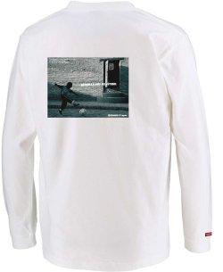 画像3: グランデ・エフ・ピー、グランデ・エフ・ピー、NINO DEL FUTBOLフォトプリント.ロングスリーブTシャツ ホワイトxブラック