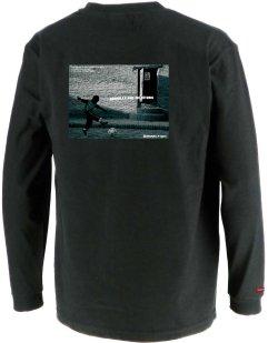 画像3: グランデ・エフ・ピー、グランデ・エフ・ピー、NINO DEL FUTBOLフォトプリント.ロングスリーブTシャツ ブラックxホワイト