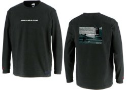 画像1: グランデ・エフ・ピー、グランデ・エフ・ピー、NINO DEL FUTBOLフォトプリント.ロングスリーブTシャツ ブラックxホワイト