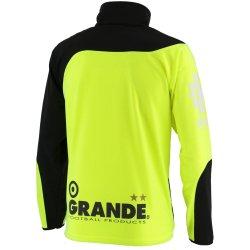 画像2: GRANDE.FP.ウォームアップライトジャージ.フルジップ.ジャケット ブラックx蛍光イエロー