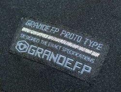 画像5: グランデ・エフ・ピー.ヘキサゴン.ハイパー.ボタンダウンポロシャツ ブラックxレッド