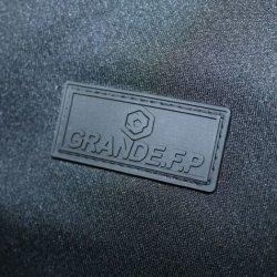 画像4: グランデ・エフ・ピー.ヘキサゴン.ハイパー.ボタンダウンポロシャツ ブラックxレッド