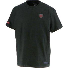 画像1: GRANDE.F.P BASICヘキサゴン.半袖Tシャツ ブラックxレッド