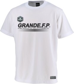 画像2: GRANDE.F.P.ハイパーロゴ.ヘキサゴン.プラクティスシャツ  ホワイト/ブラック