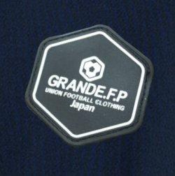 画像4: 【予約:4月上旬発売】GRANDE.F.P.ハイパーロゴ.ヘキサゴン.プラクティスシャツ  ネイビーxホワイト