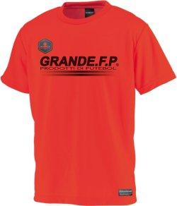 画像2: GRANDE.F.P.ハイパーロゴ.ヘキサゴン.プラクティスシャツ  レッドxブラック