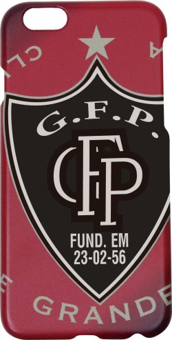 画像1: GRANDE.F.P.エンブレム アイフォンケース6/6s レッド