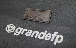 画像3: grandefp.ドライ.スウェットジップパーカー ブラックxグレー