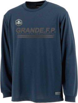 画像2: 【BIGサイズ対応】GRANDE.F.P.ハイパーロゴ.ヘキサゴン.長袖プラクティスシャツ  ネイビーxクローム