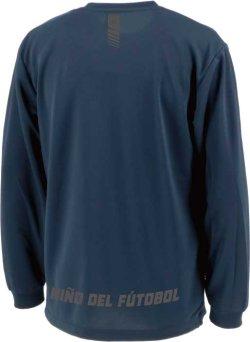 画像3: 【BIGサイズ対応】GRANDE.F.P.ハイパーロゴ.ヘキサゴン.長袖プラクティスシャツ  ネイビーxクローム