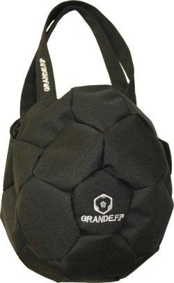 画像1: 【プレゼントに最適】GRANDE.F.Pサッカーボール型トートバック ブラックxシルバー(銀:刺繍)
