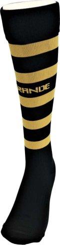 GRANDE.F.P BORDER FOOTBALL SOCKS ブラックxゴールド