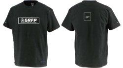 画像1: 【BIGサイズ対応商品】GRFPボックスロゴ.プリントプレミアTシャツ ブラックxホワイト